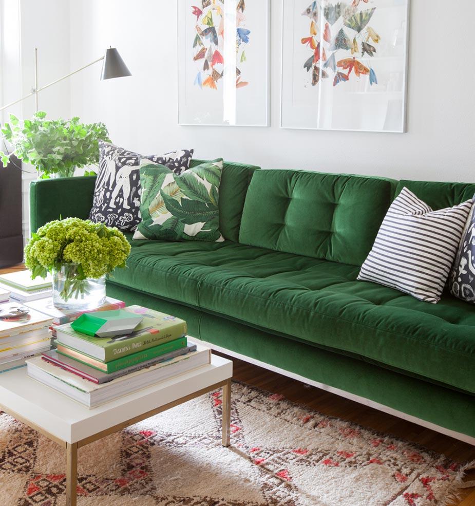 Scegliere colore divano e tu quale sei - Divano verde mela ...
