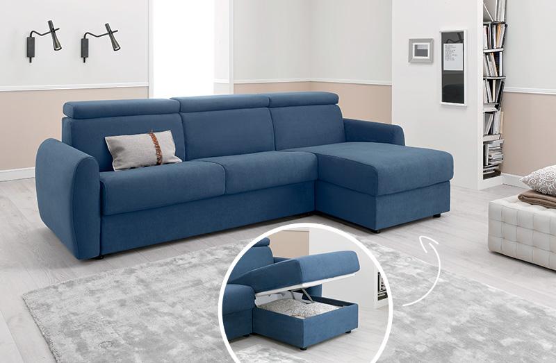 Come scegliere un divano letto matrimoniale comodo - Divano letto blu ...