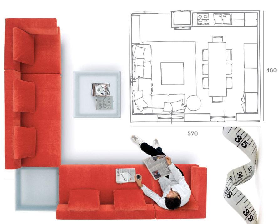 Prendere misure divano e stanza per una scelta perfetta for Misure divani