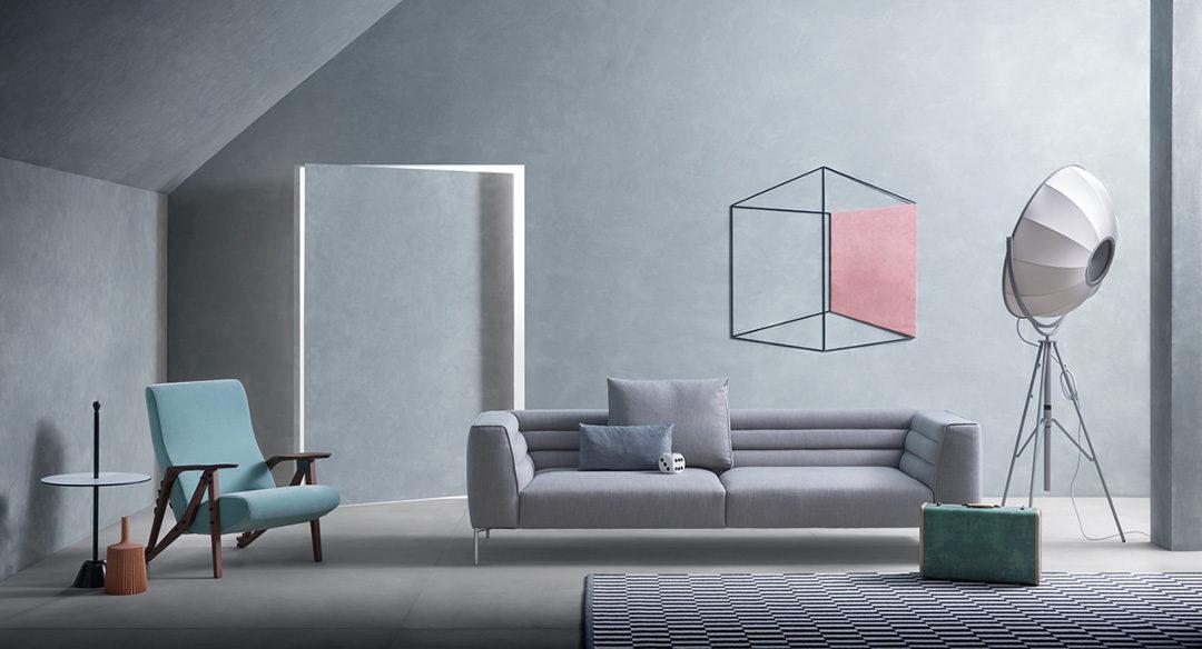 Zanotta Botero, divano lineare dalle forme di design.