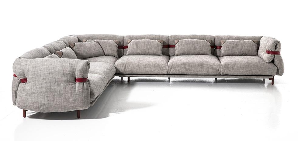 Divani design 2016 - Moroso Belt divano componibile ad angolo.