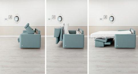 Come si trasforma un divano in letto.