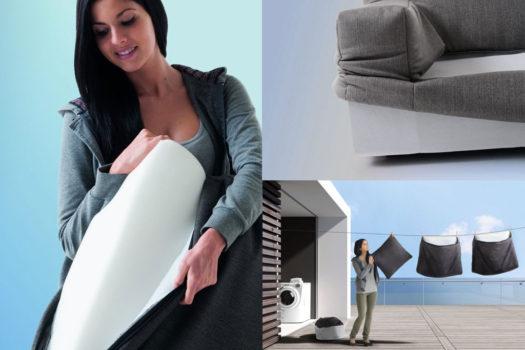 """Guide al """"come si fa"""": sfoderare il divano in tessuto."""