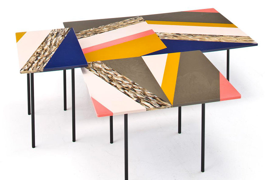 Fishbone-tables Patrizia urquiola moroso.