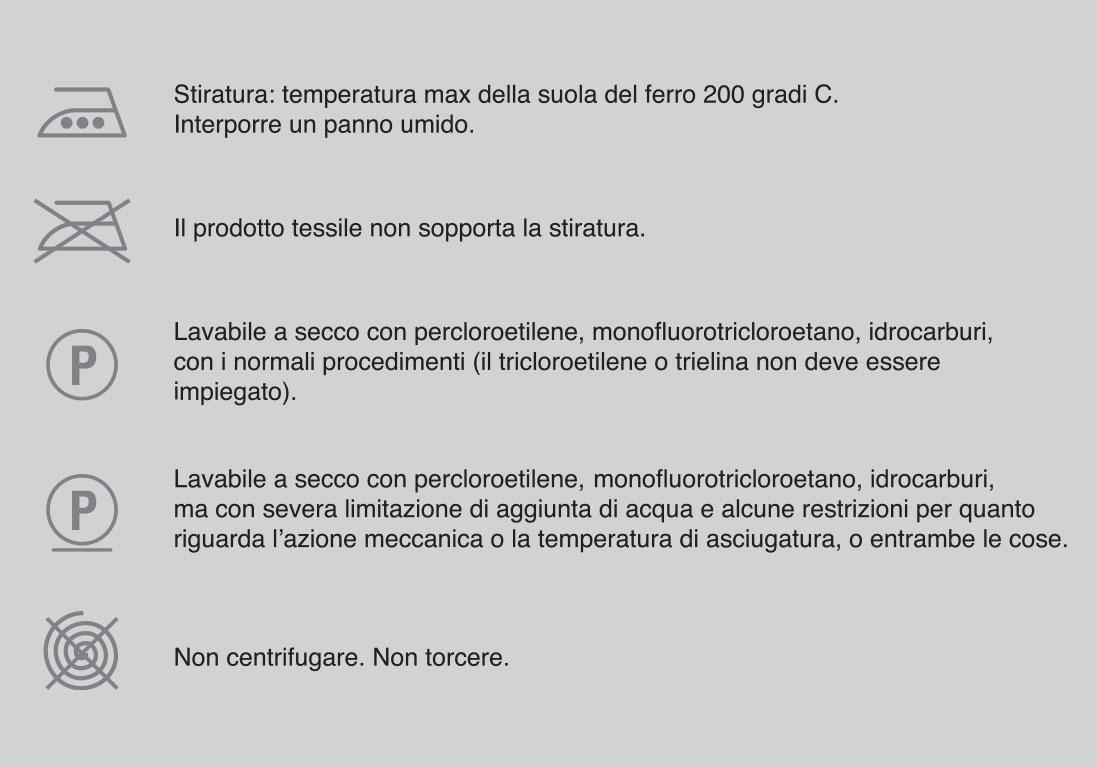 Simboli manutenziuone tessuti per divani - foto 3.