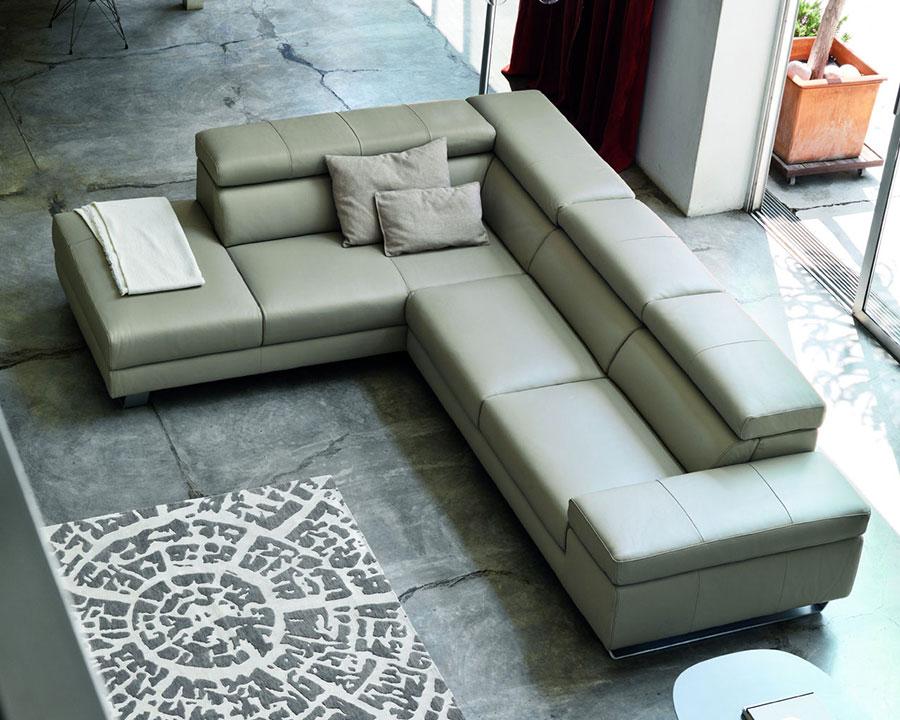 Doimo Salotti pelle divano design angolo modello Alison.