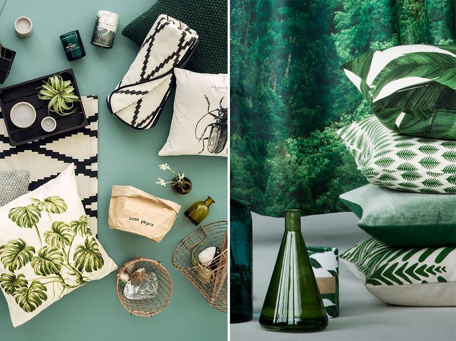 Cuscini collezione H&M home stile giugla.