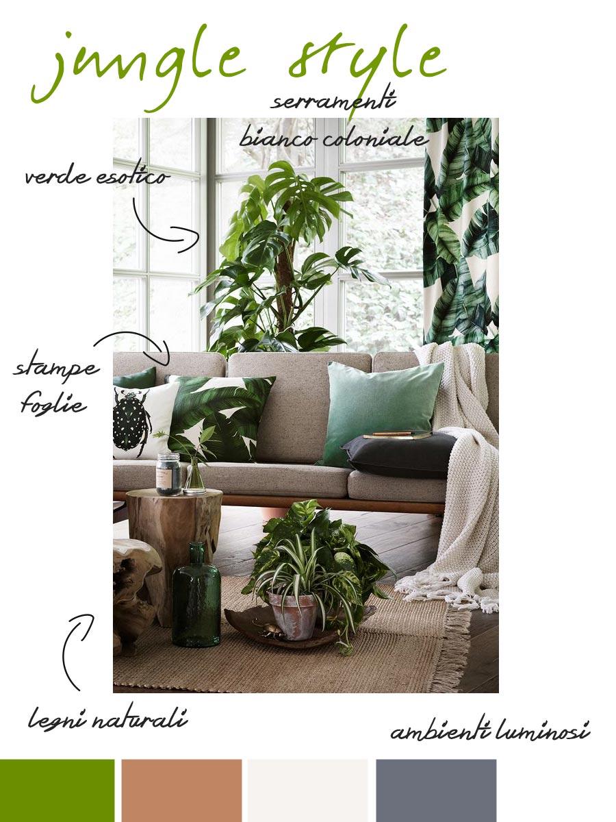 stile giugla nel tuo soggiorno.