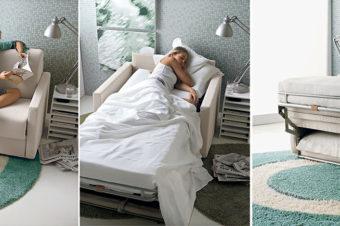Poltrone letto design : cinque stili tra cui scegliere.