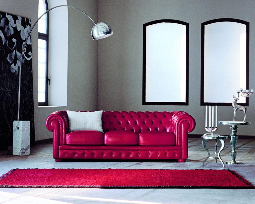 Divano Rosso E Grigio arredare il soggiorno con il divano rosso. | salotto perfetto