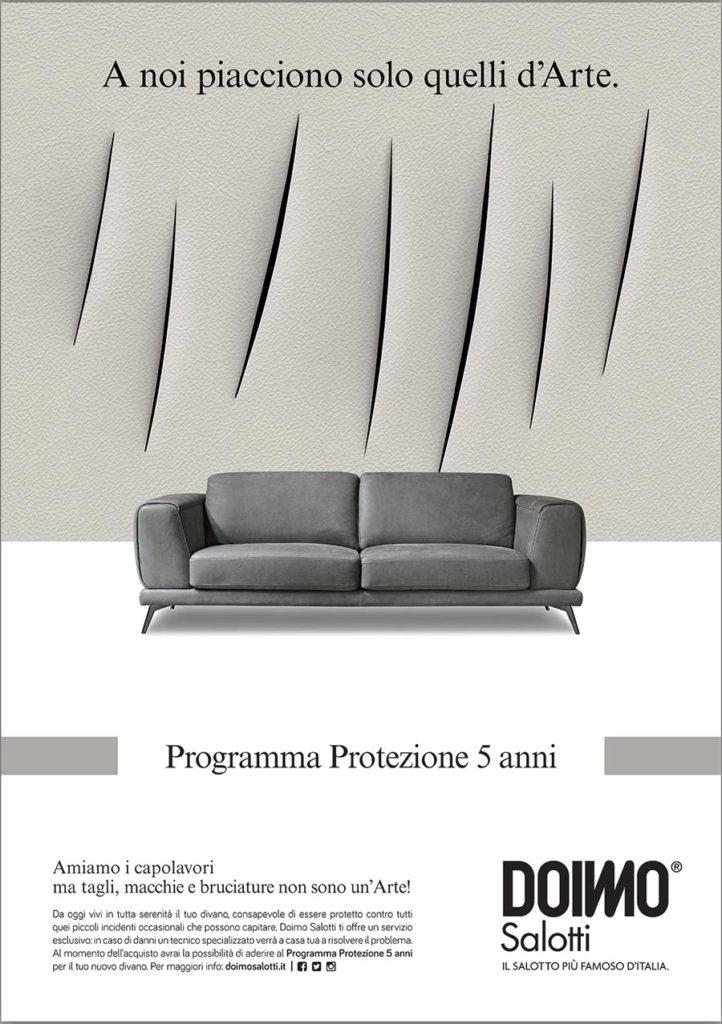 Programma protezione divano in pelle: per proteggerlo da incidenti come le macchie involontarie.