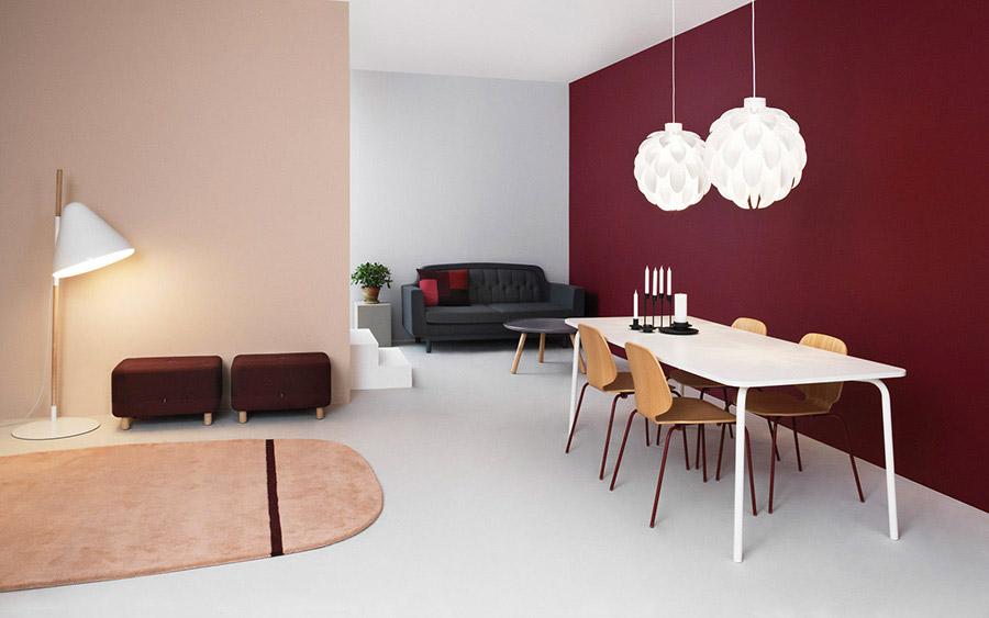 Usare il viola e il rosso per le pareti del soggiorno. | SALOTTO ...