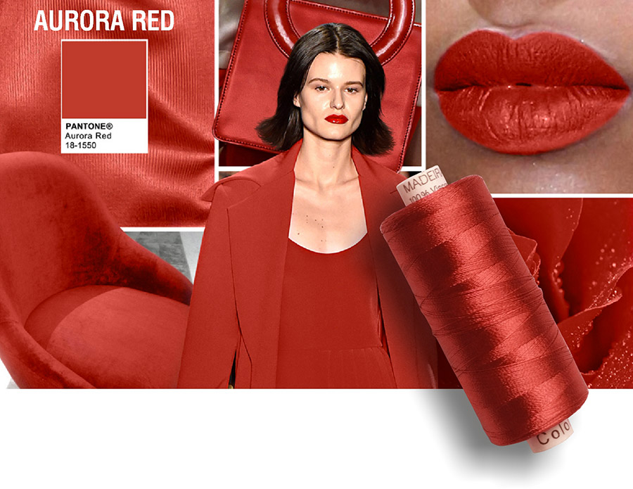 Pantone colore Aurora RED - rosso 2016-2017.