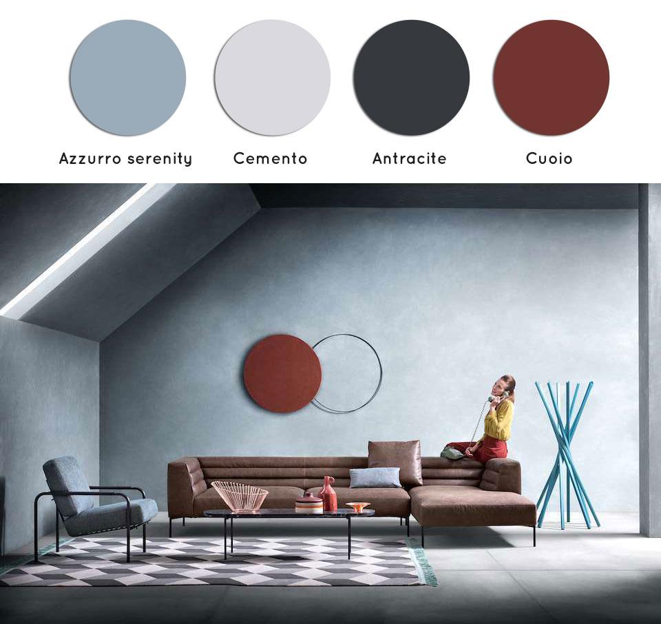 Azzurro serenity per le pareti del soggiorno: guida ai colori.
