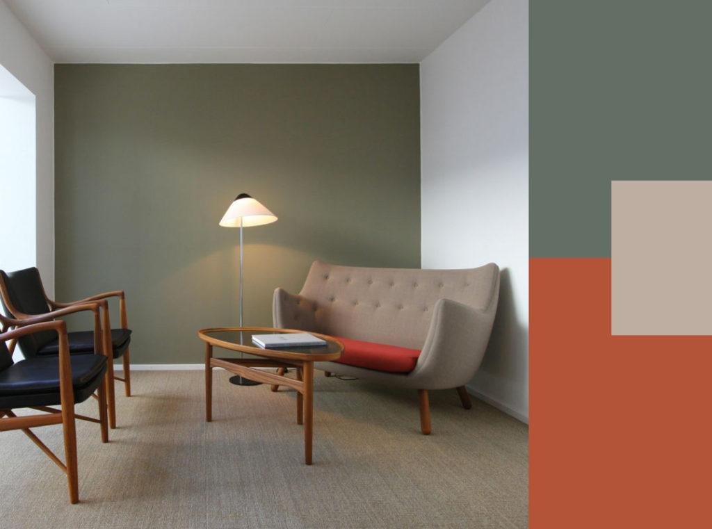 Guida colori casa l equilibrio e l eleganza del verde - Colori pareti casa ...