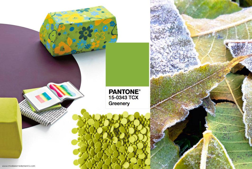 Pantone 2017 greenery ispirazioni per il colore dell'anno 2017.