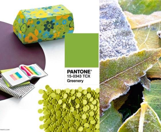 Pantone Greenery colore 2017 in salotto.