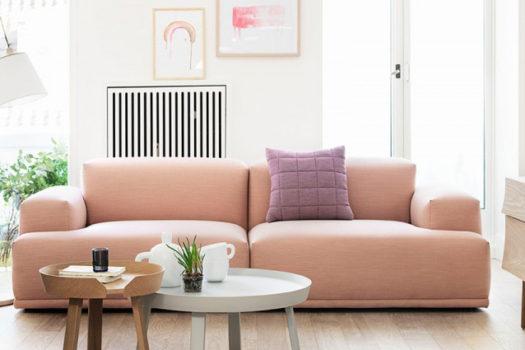Tendenza casa: arredare il soggiorno con tinte pastello.