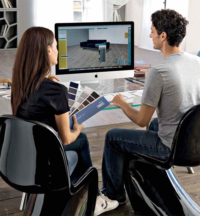 Divano personalizzabile al computer - divano Under di Doimo Salotti.