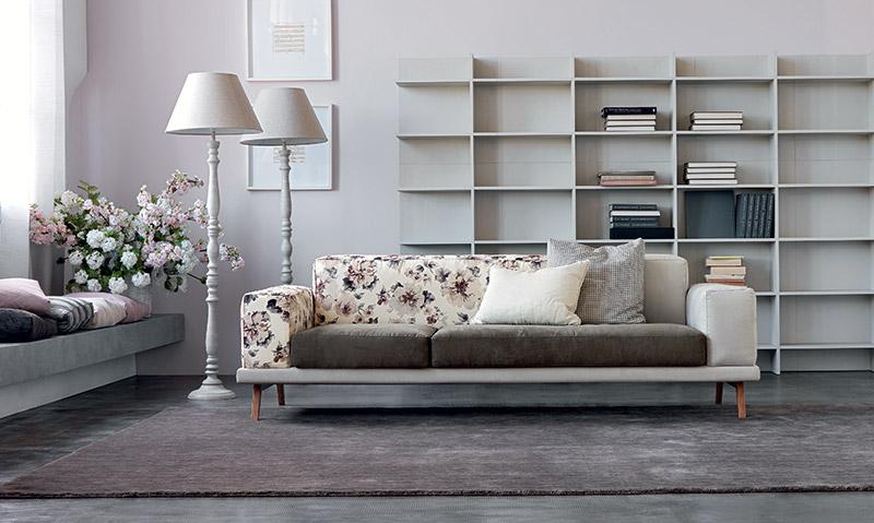 Divano di Doimo Salotti è anche un divano dal look romantico - Under.