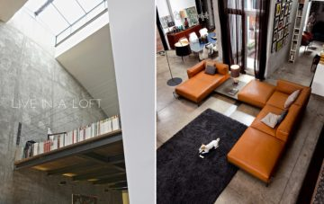 Doimo Salotti proposte di divani per vivere in un loft.