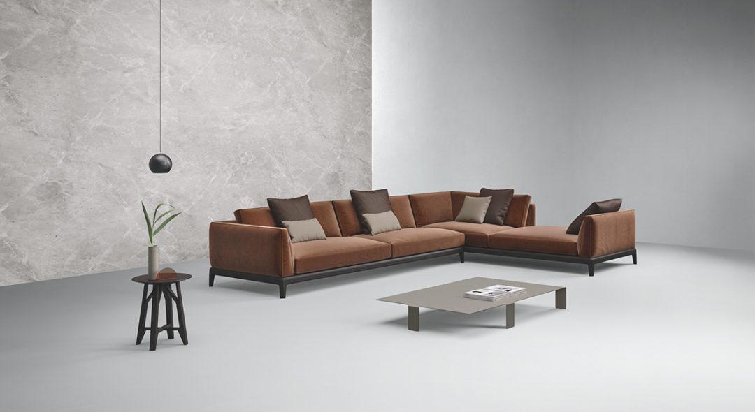 Busnelli Akita divano presentato al Salone del Mobile 2017.