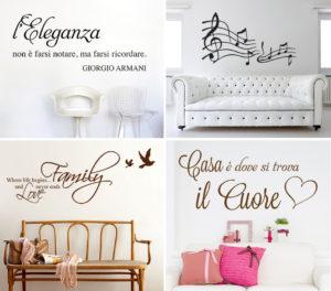 Adesivi murali frasi e scritte per decorare le pareti salotto perfetto - Decorare pareti con scritte ...