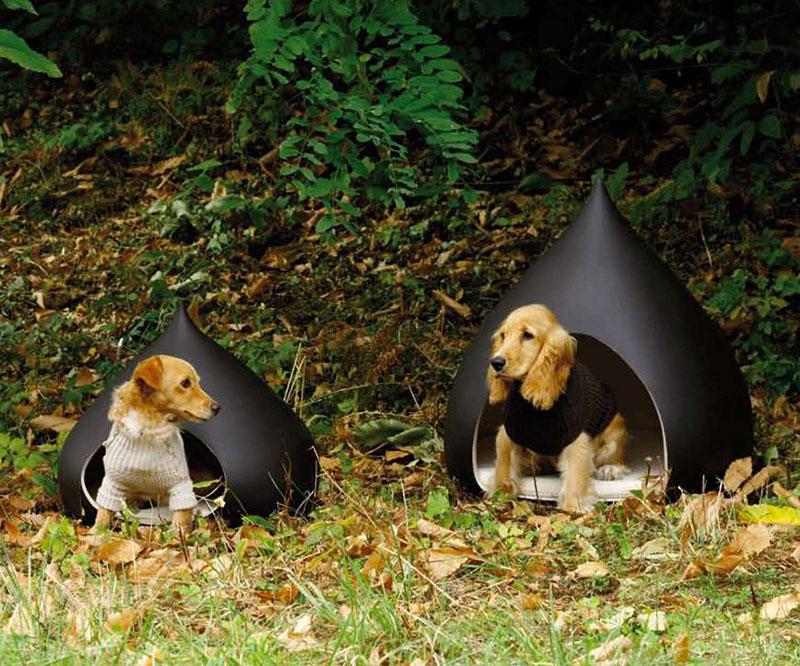 Castagna casa design per cani by Bosa, adatta anche per esterni.