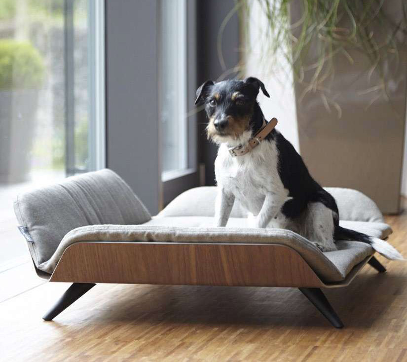 Dog Bed Bolster Black