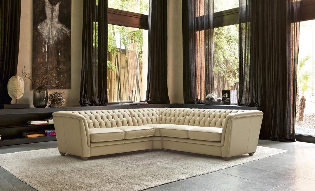 Doimo salotti emporio linea pelle - divano Harmon