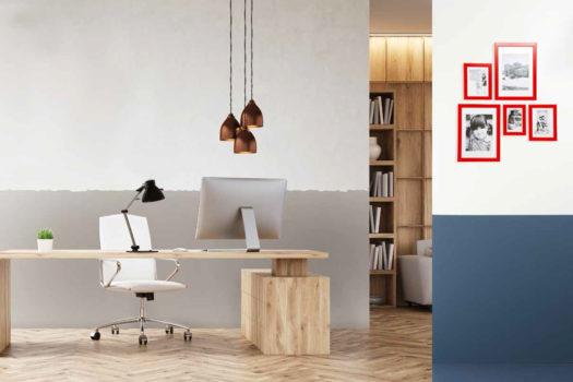 Decorare le pareti del salotto: guida per colorare a righe orizzontali.