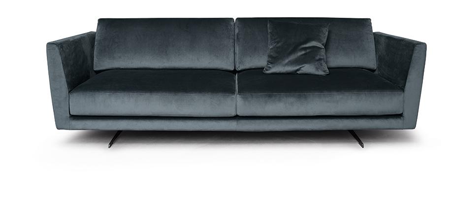 Un divano blu come il mare per il tuo salotto perfetto - Divano velluto blu ...
