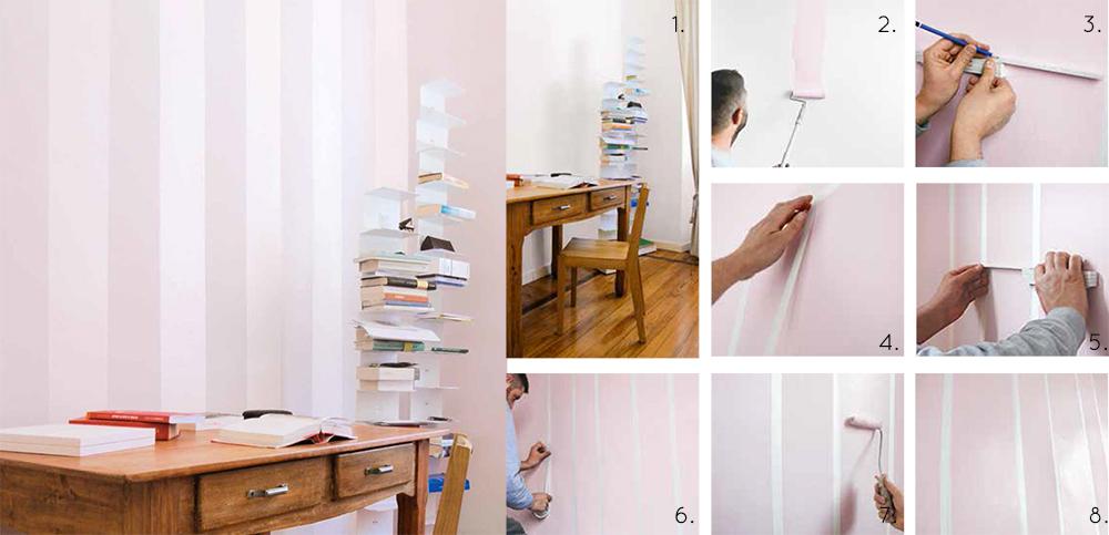 Tinta Parete A Righe : Dipingere casa le righe verticali salotto perfetto