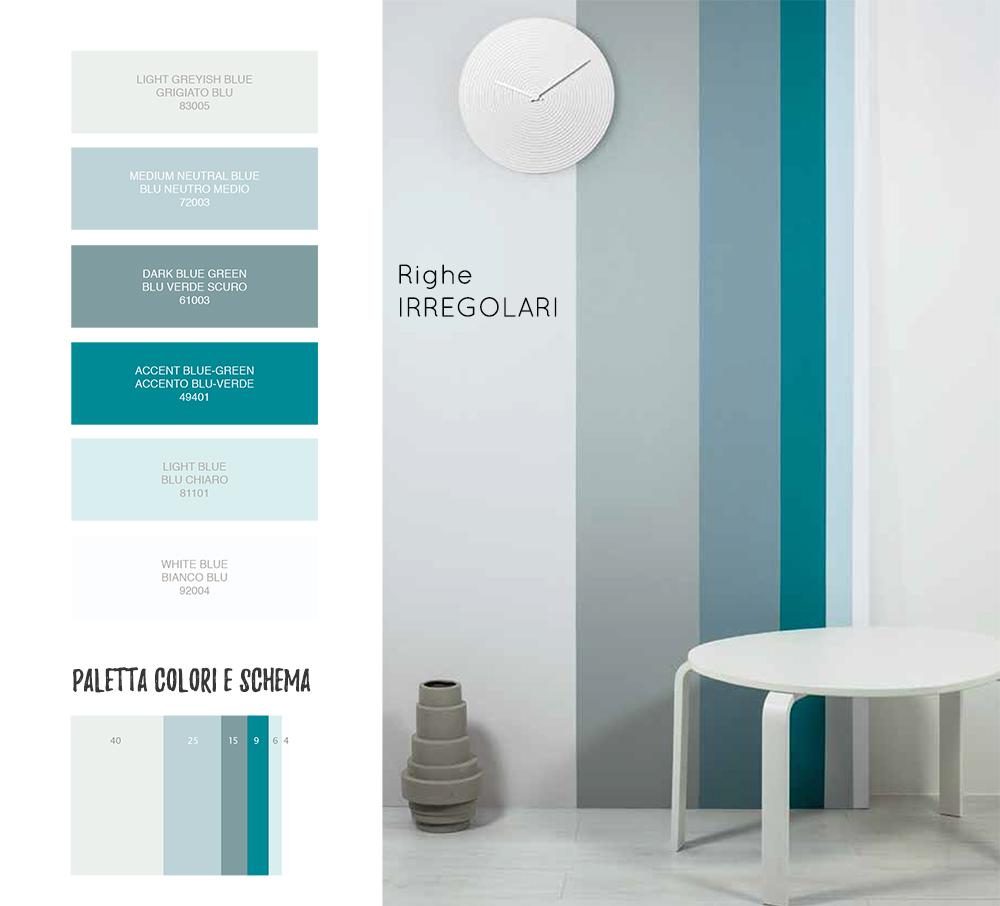 Dipingere casa le righe verticali salotto perfetto - Dipingere a casa ...
