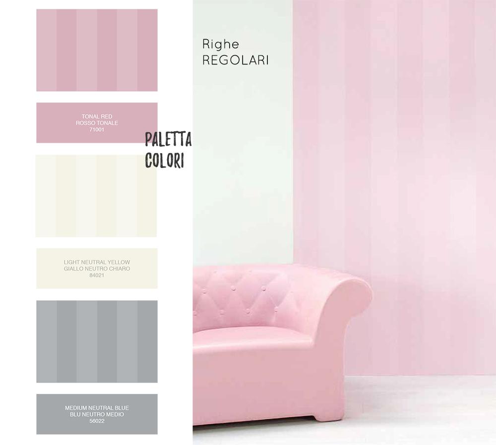Pareti Pitturate A Fasce dipingere casa: le righe verticali. | salotto perfetto