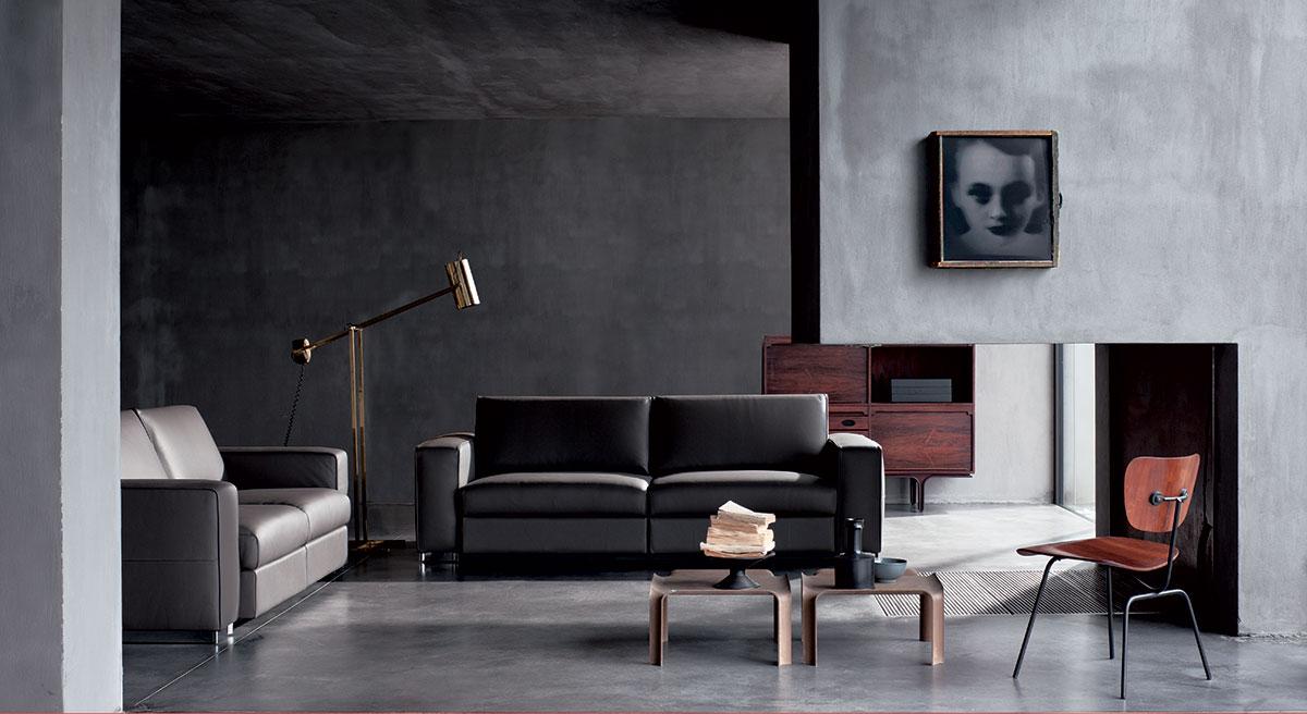 Salotto pelle grigio scuro bellissimo salotto perfetto for Salotto elegante