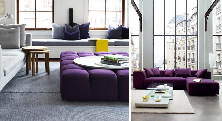 Il divano viola colore dell 39 anno 2018 salotto perfetto for Divano viola