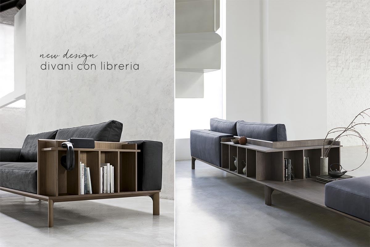 Divano Angolare Con Libreria.I Nuovi Divani Con Libreria Salotto Perfetto