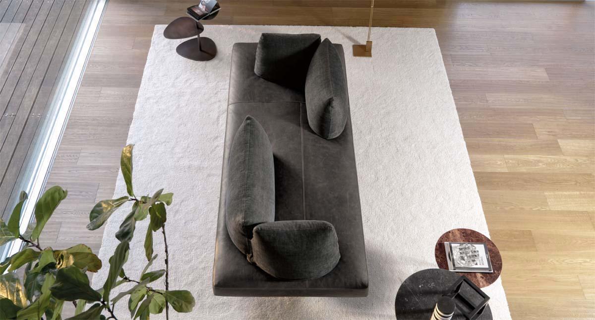 divano grigio con schienale rimovibile Desiree lovely day