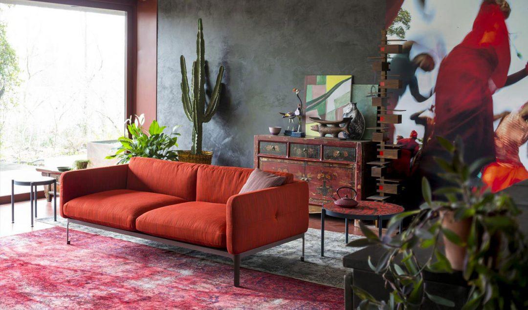 Moroso divano arancione scuro