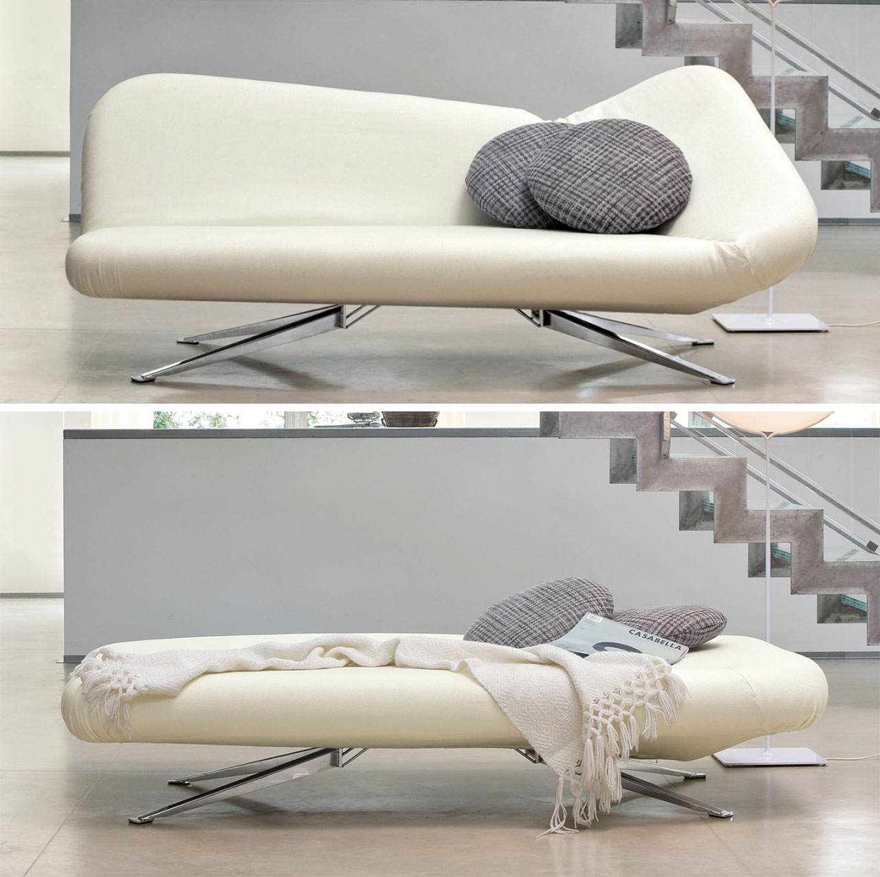Papillon bonaldo divano trasformabile bianco.