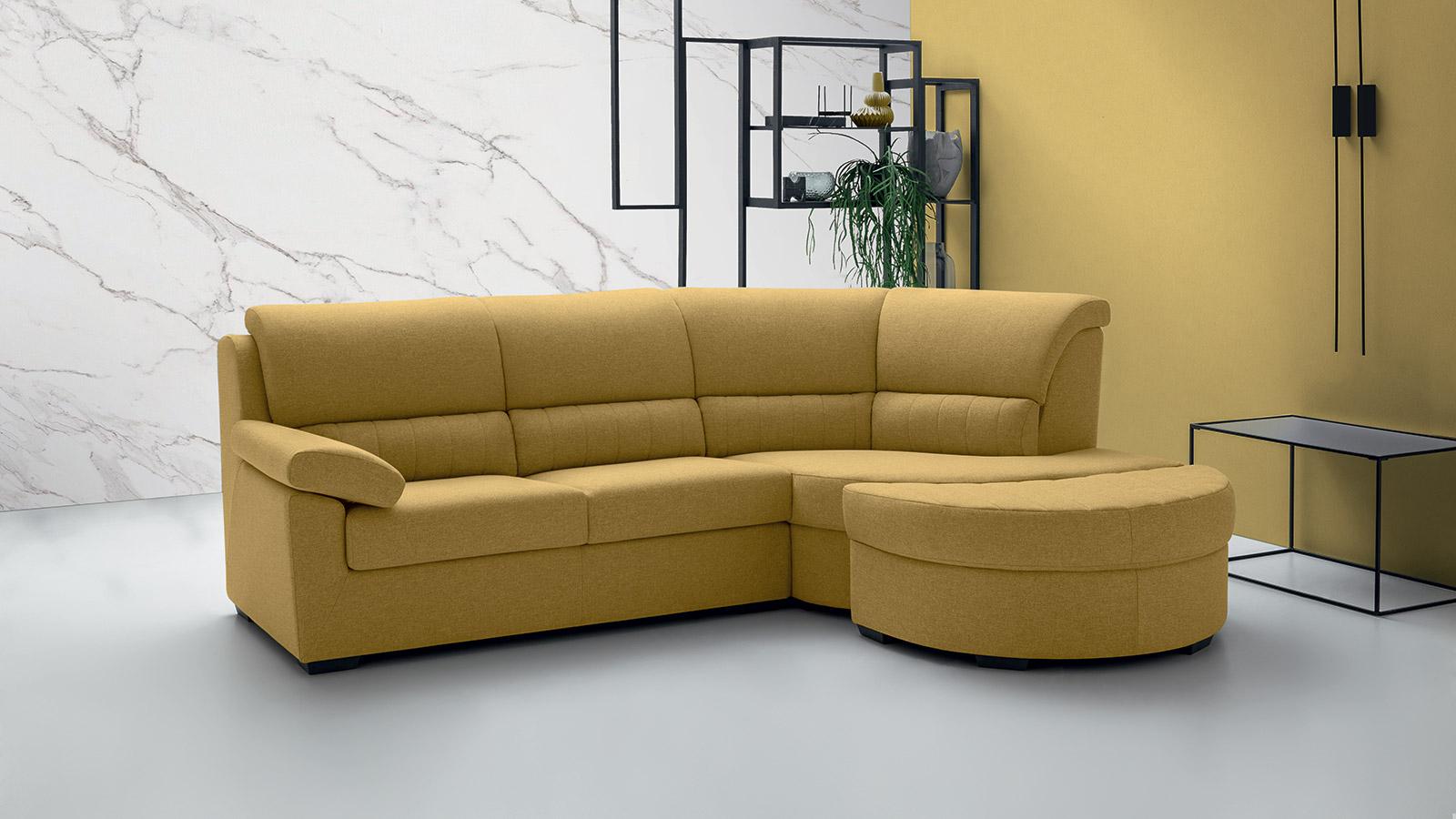 Felis Aron divan con angolo piccolo 242 cm colore giallo
