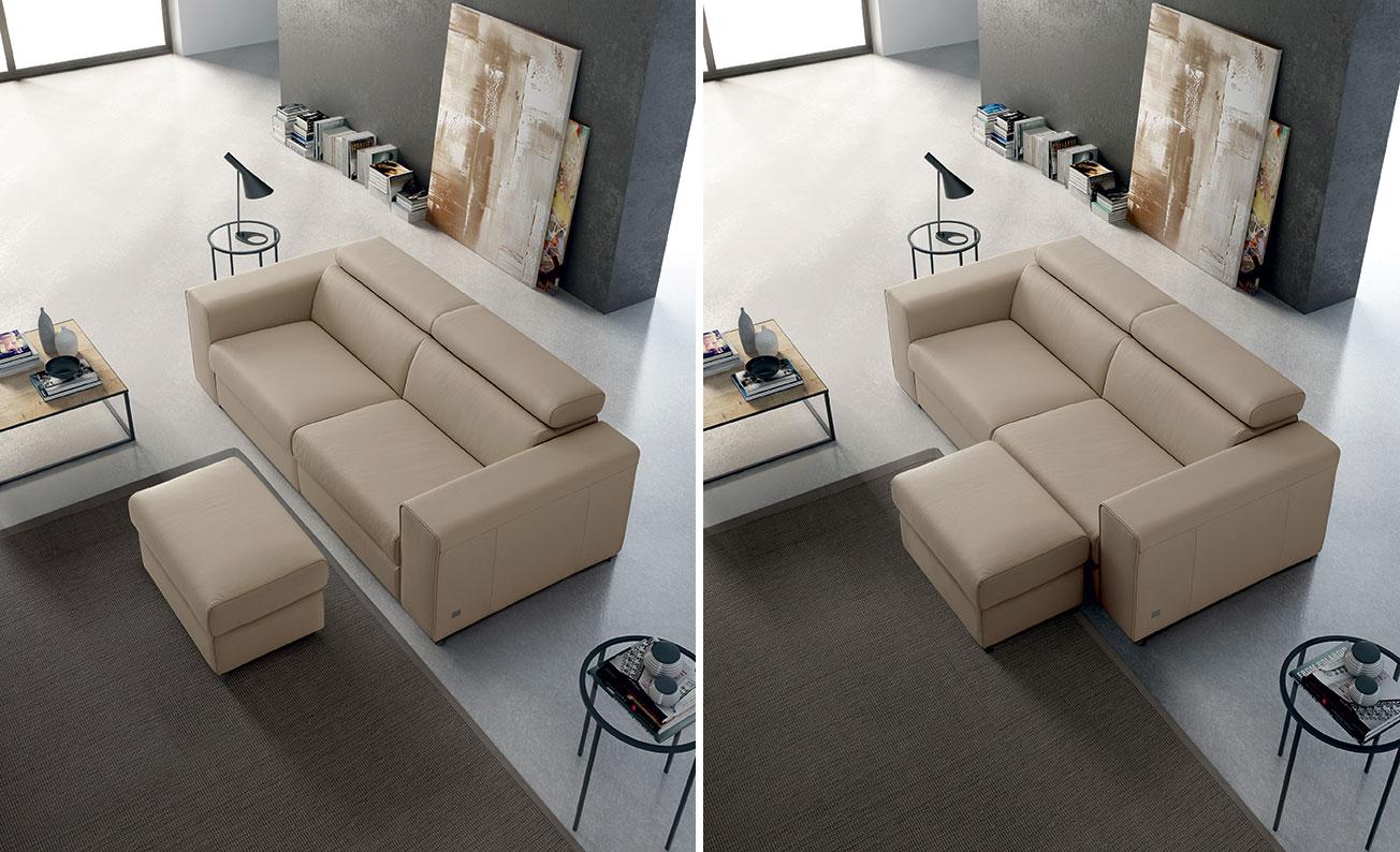 Si pu mettere un divano con penisola in 2 metri for Divano 5 posti lineare
