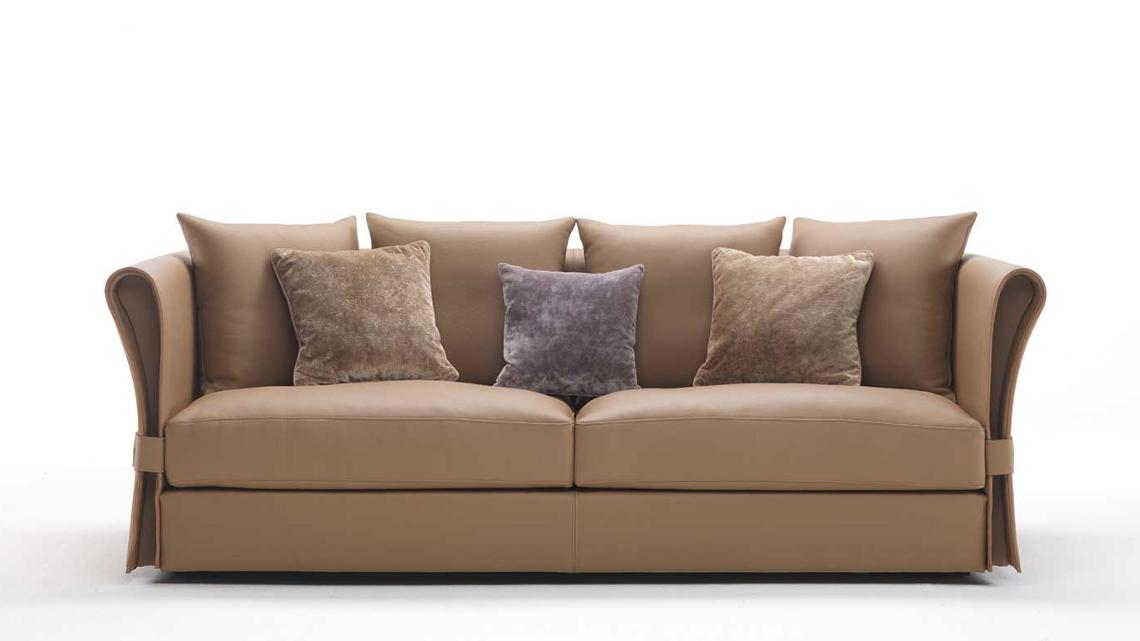 Zani Onda divano in pelle 2 posti