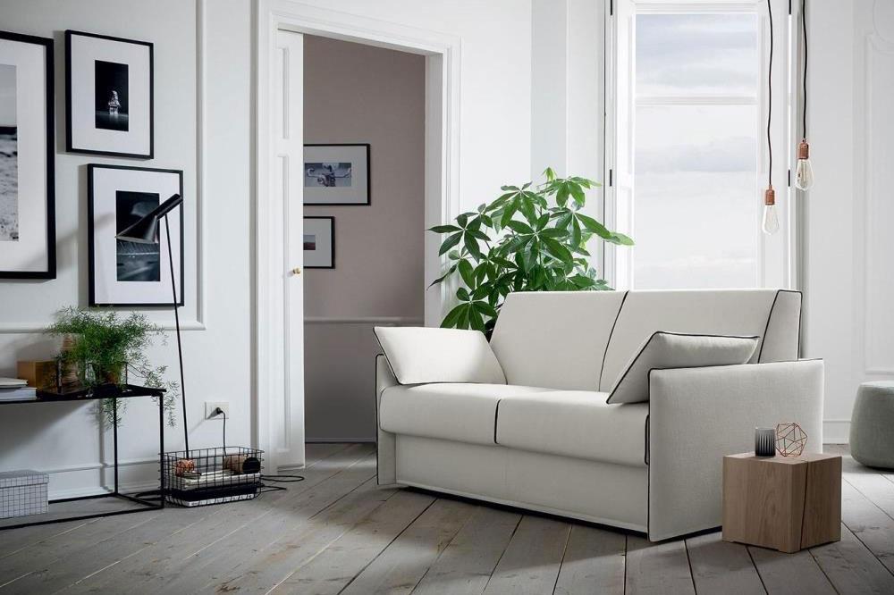 divano letto piccolo 3 posti bianco