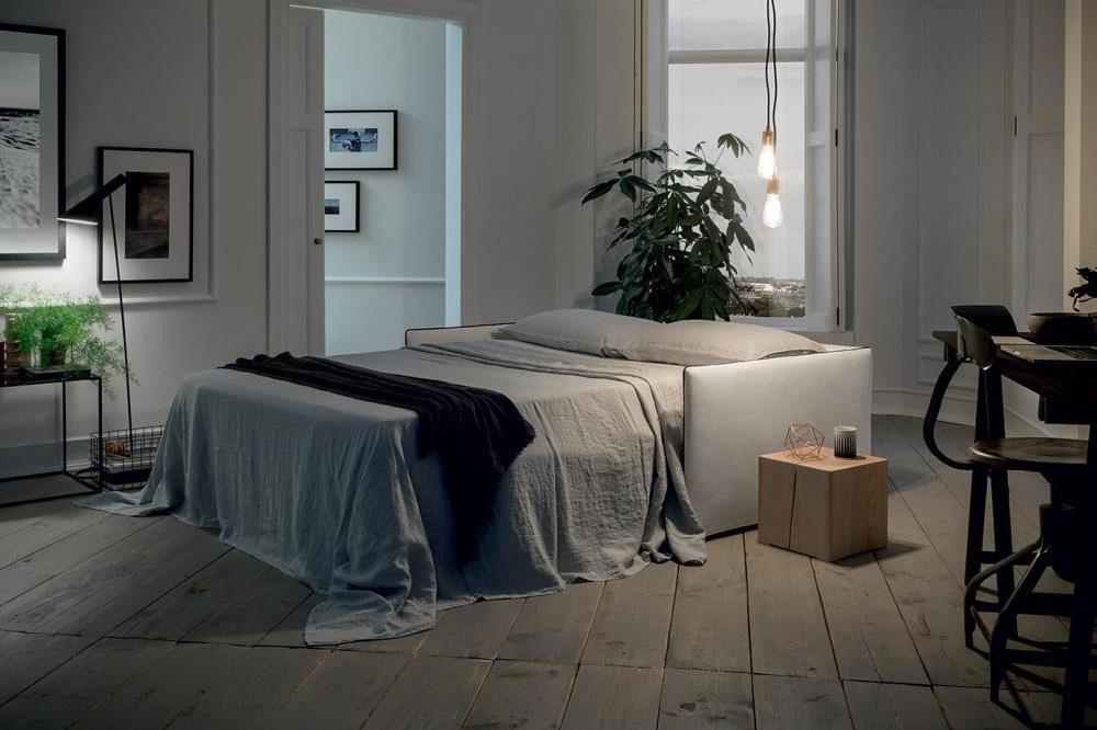 divano letto aperto con materasso alto spessore sofa club