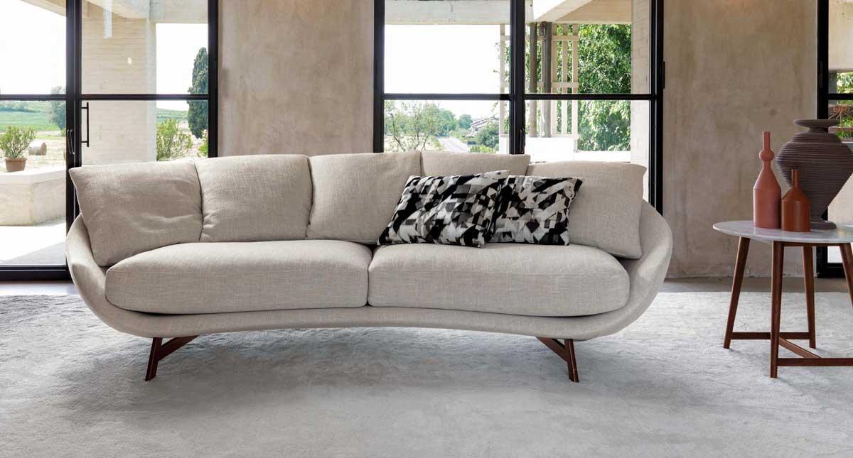 divano Desiree avi-es in tessuto bianco
