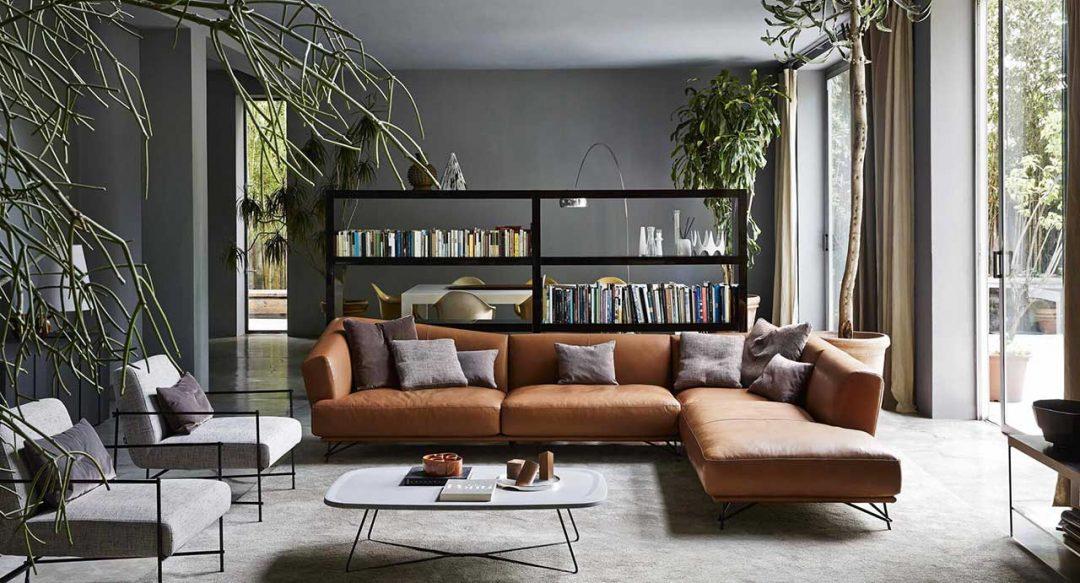 ditre lennox divano grande pelle cognac