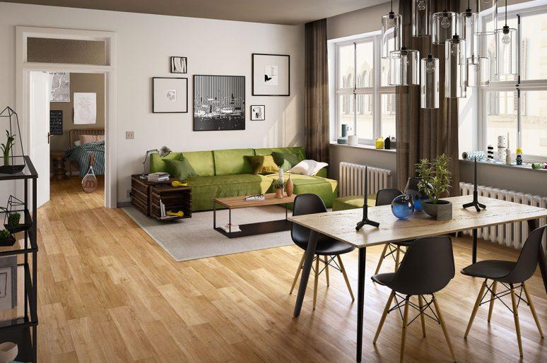 I pavimenti PVC a click più adatti per il nostro salotto