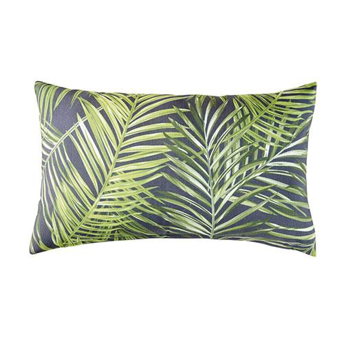 cuscino da esterni con foglie di palma